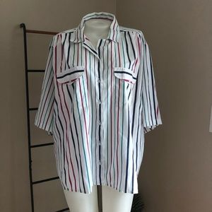 Tops - Vintage Striped Button-down